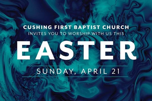 First Baptist Church Easter invitation